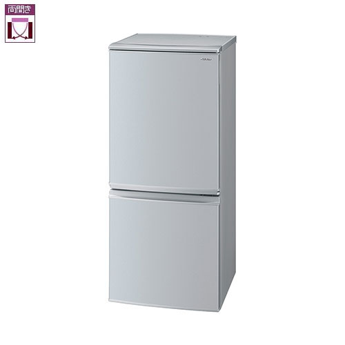 【設置+長期保証】シャープ SJ-D14F-S(シルバー系) 2ドア冷蔵庫 左右付替タイプ 137L