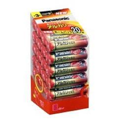 【在庫あり】14時までの注文で当日出荷可能! パナソニック LR6XJ/20SH アルカリ乾電池 単3形 20本パック