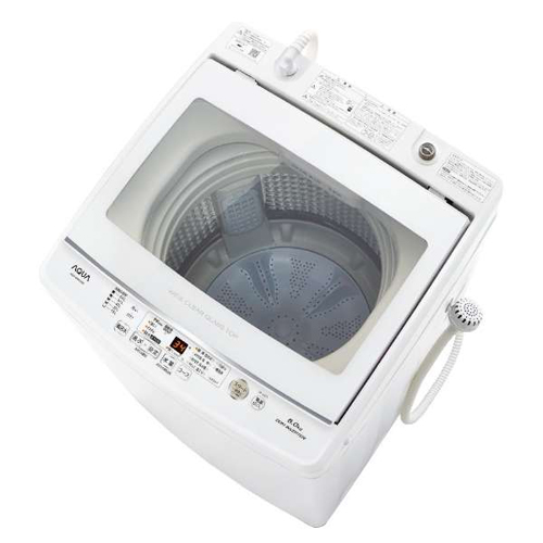 【長期保証付】アクア AQW-GV80J-W(ホワイト) 全自動洗濯機 上開き 洗濯8kg