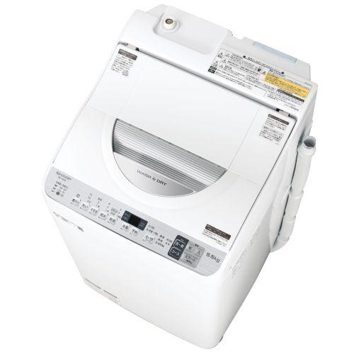 【設置】シャープ ES-TX5D-S(シルバー系) タテ型洗濯乾燥機 上開き 洗濯5.5kg/乾燥3.5kg