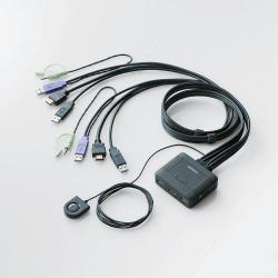エレコム KVM-HDHDU2 パソコン切替器 USB 2台切替