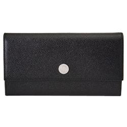 BVLGARI 27749-BK クラシック グレインレザー 長札ファスナー財布 ブラック