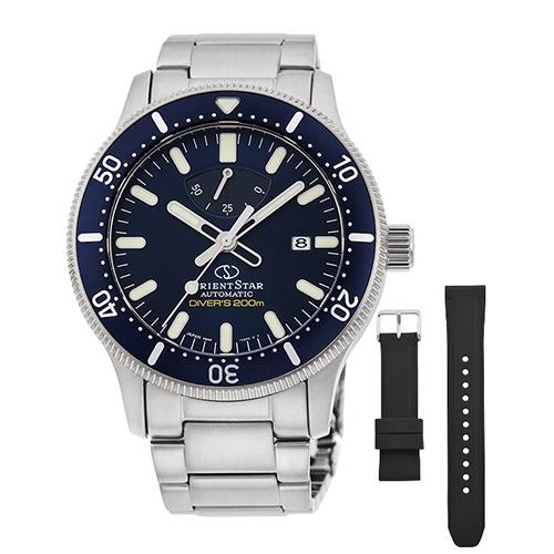 オリエント RK-AU0310L(ネイビー) オリエントスター 自動巻き(手巻き付き) 腕時計(メンズ)