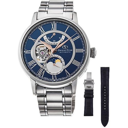 【長期保証付】オリエント RK-AM0011L(ネイビー) オリエントスター 自動巻き(手巻き付き) 腕時計(メンズ)