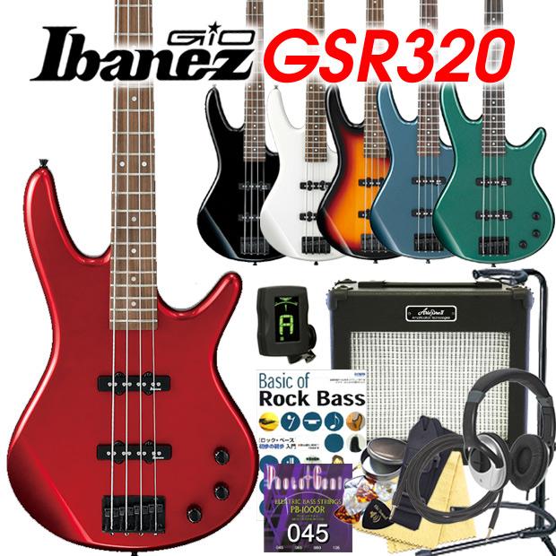 Ibanez アイバニーズ GSR320 ベース 初心者 入門 13点セット【ベース初心者】【送料無料】