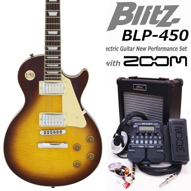エレキギター初心者 Blitz BLP-450/VS入門セット16点【エレキギター初心者】【送料無料】