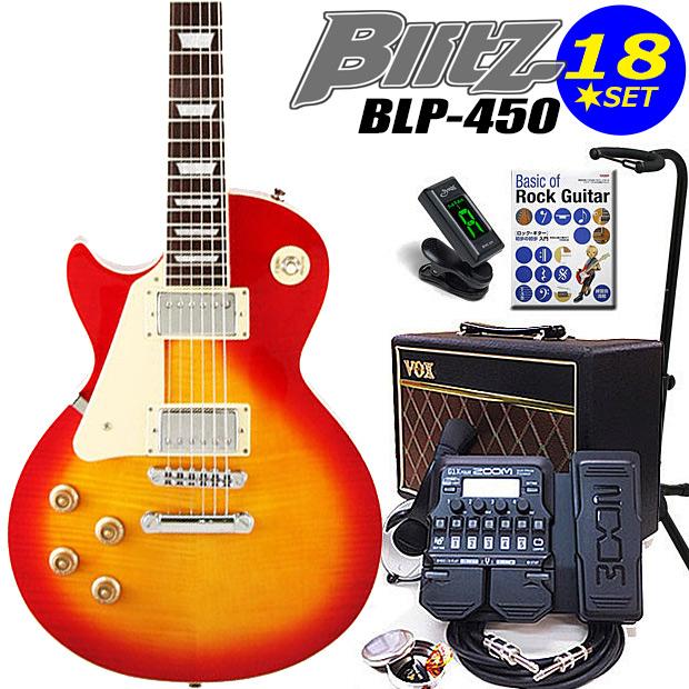 エレキギター初心者 Blitz BLP-450/LH CS 入門セット16点 左利き レフトハンド【エレキギター初心者】【送料無料】
