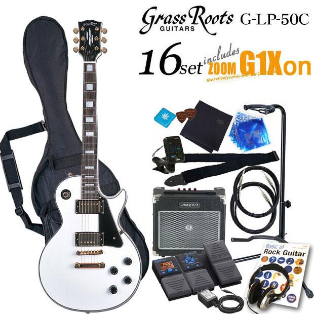 グラスルーツ Grassroots G-LP-60C WHエレキギター初心者 入門セット16点【送料無料】【エレキギター初心者】