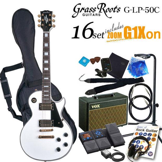 グラスルーツ Grassroots G-LP-60C WH エレキギター初心者 入門セット16点【送料無料】【エレキギター初心者】