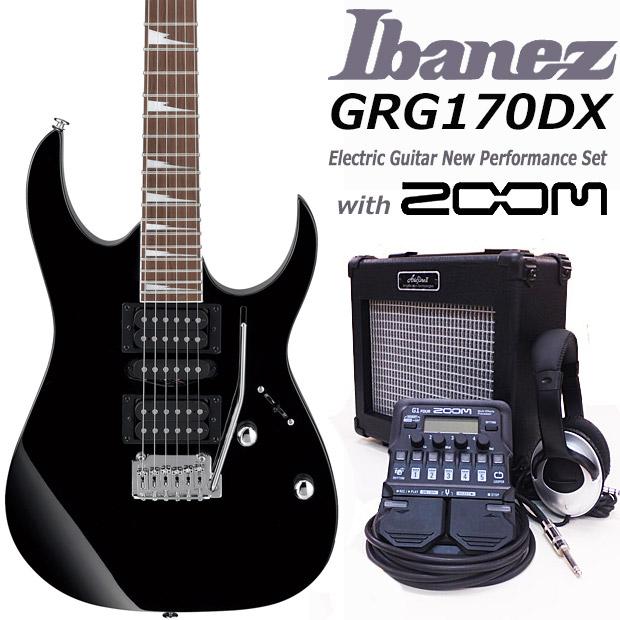 エレキギター初心者 アイバニーズ Ibanez GRG170DX BKN入門セット18点【エレキギター初心者】