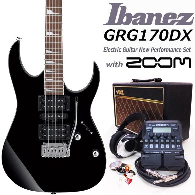 エレキギター初心者 アイバニーズ Ibanez GRG170DX BKN入門セット16点【エレキギター初心者】【送料無料】