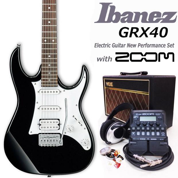 エレキギター初心者 アイバニーズ Ibanez GRX40 BKN 入門セット18点【エレキギター初心者】