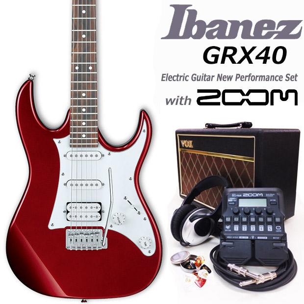 エレキギター初心者 アイバニーズ Ibanez GRX40 CA 入門セット18点【エレキギター初心者】