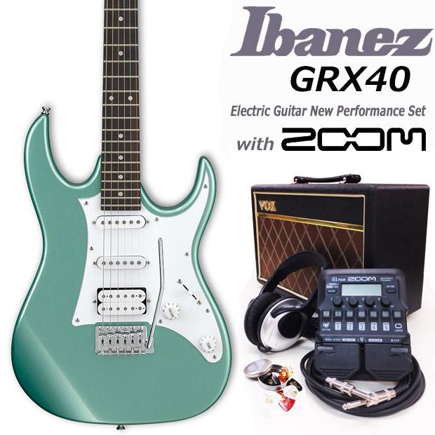 エレキギター初心者 アイバニーズ Ibanez GRX40 MGN 入門セット18点【エレキギター初心者】