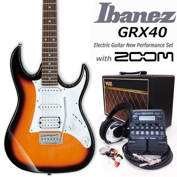 エレキギター初心者 アイバニーズ Ibanez GRX40 TFB 入門セット18点【エレキギター初心者】