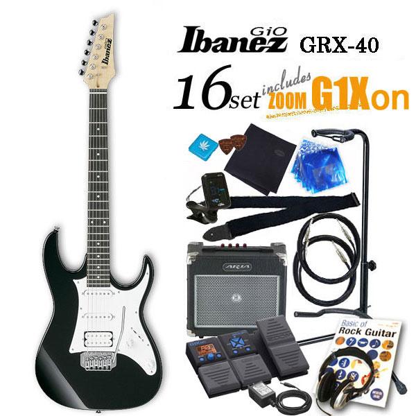 Ibanez アイバニーズ GRX40 BKN エレキギター初心者 16点入門セット【エレキギター初心者】【送料無料】