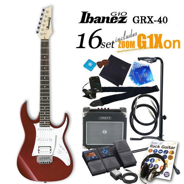 Ibanez アイバニーズ GRX40 CA エレキギター初心者 18点入門セット【エレキギター初心者】