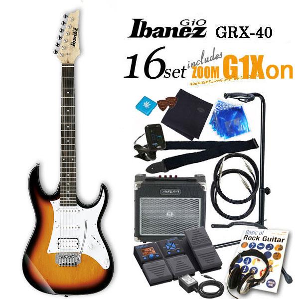 Ibanez アイバニーズ GRX40 TFB エレキギター初心者 18点入門セット【エレキギター初心者】