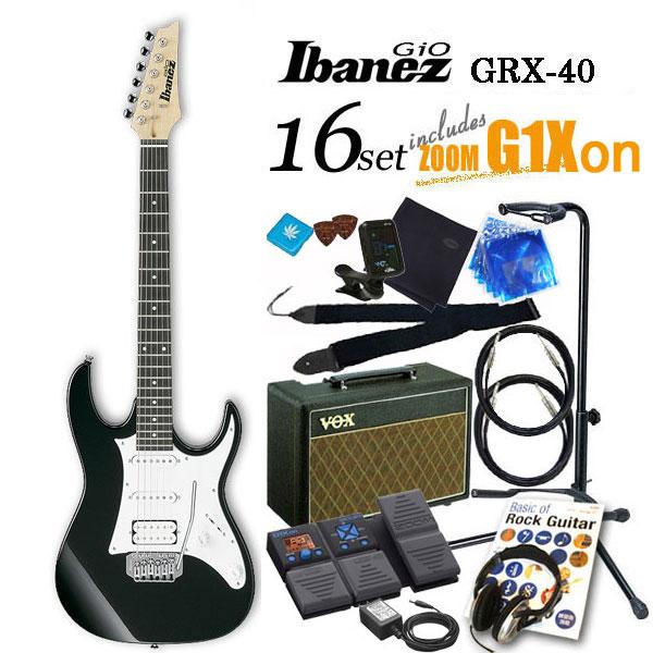 Ibanez アイバニーズ GRX40 BKNエレキギター初心者 16点入門セット【エレキギター初心者】【送料無料】