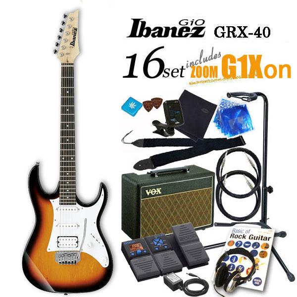 Ibanez アイバニーズ GRX40 TFBエレキギター初心者 16点入門セット【エレキギター初心者】【送料無料】
