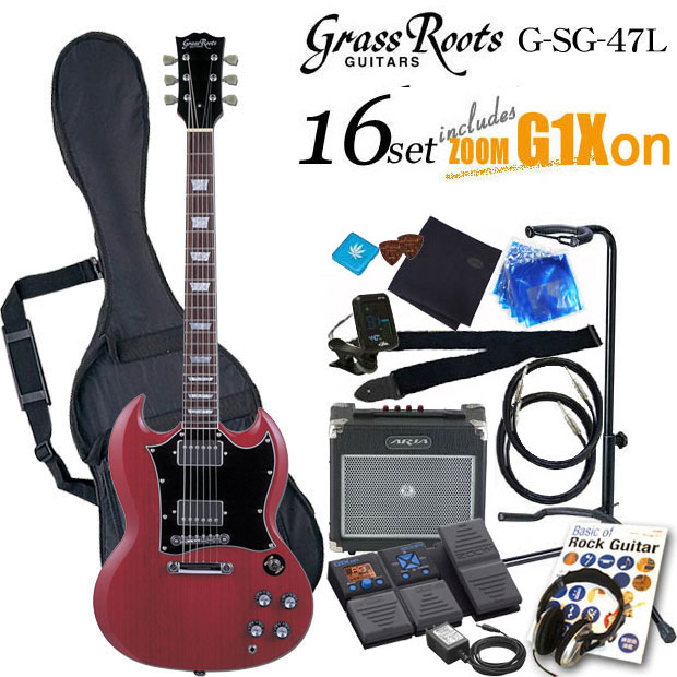 グラスルーツ Grassroots G-SG-55L CH エレキギター初心者 入門セット16点【送料無料】【エレキギター初心者】
