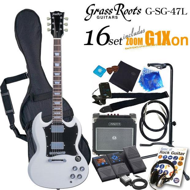 グラスルーツ Grassroots G-SG-55L WH エレキギター初心者 入門セット16点【送料無料】【エレキギター初心者】