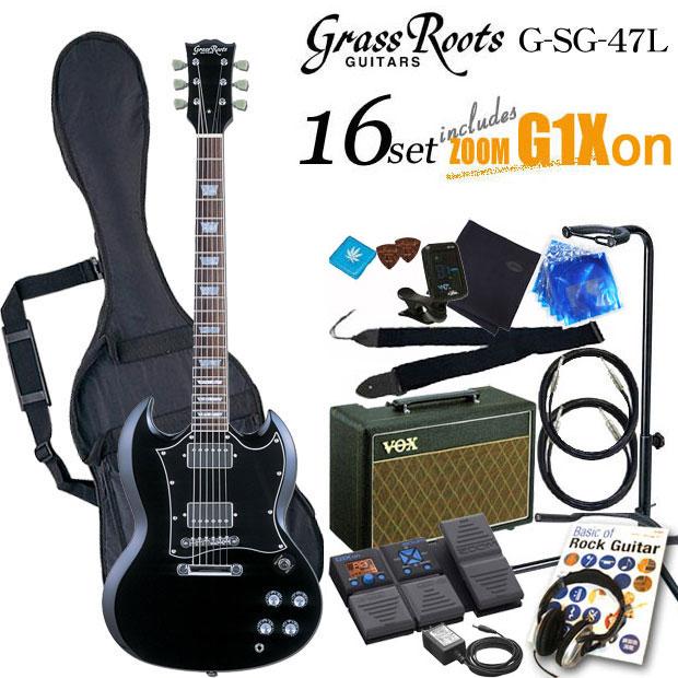 グラスルーツ Grassroots G-SG-55L BLKエレキギター初心者 入門セット16点【送料無料】【エレキギター初心者】