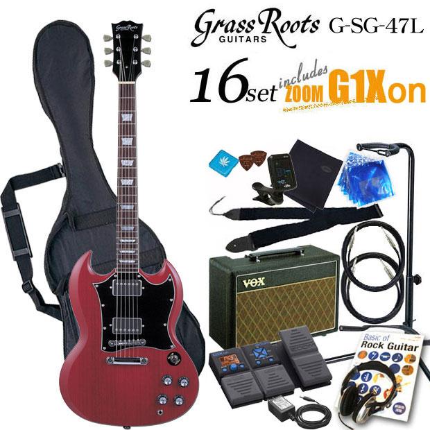 グラスルーツ Grassroots G-SG-55L CHエレキギター初心者 入門セット16点【送料無料】【エレキギター初心者】