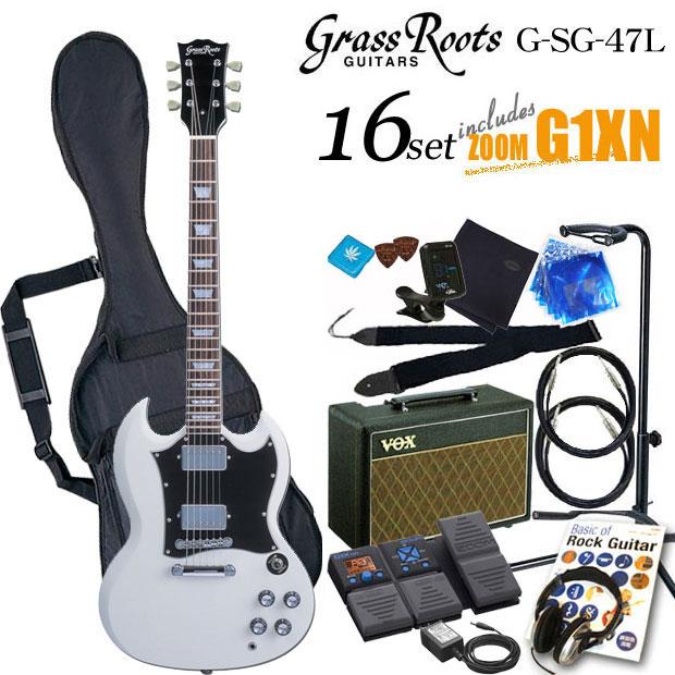 グラスルーツ Grassroots G-SG-55L WHエレキギター初心者 入門セット16点【送料無料】【エレキギター初心者】