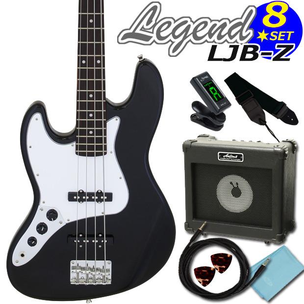 【送料無料】Legend LJB-Z-LH/BK (左利きモデル)お手軽8点入門セットレジェンド エレキベース レフトハンド【ベース初心者】