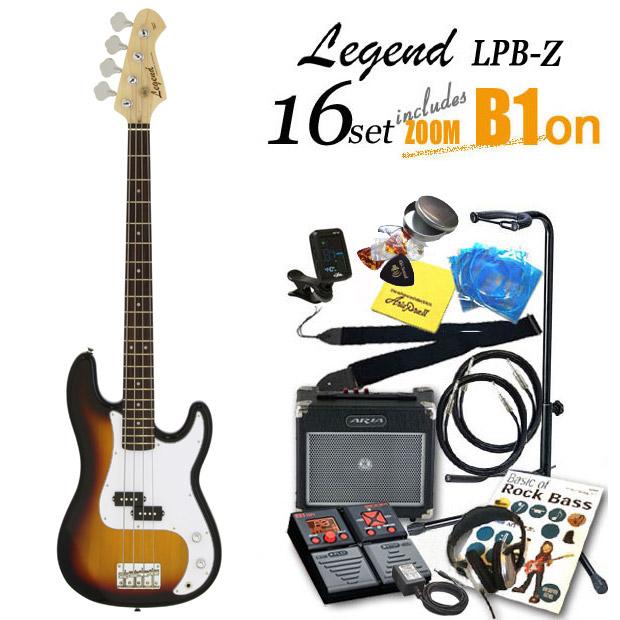 ベース 初心者 入門 LPB-Z/3TS Legend レジェンド ZOOM B1Four付 16点 プレシジョンベースタイプ 【プレべ】【PBタイプ】【ベース初心者】