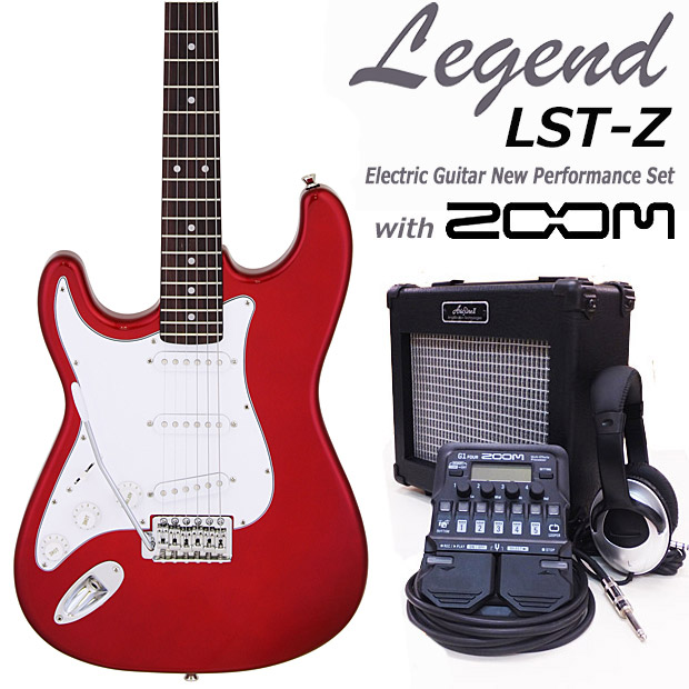 エレキギター初心者入門 Legend レジェンド LST-Z LH/CA 16点セット 左利き レフトハンド【エレキ ギター初心者】【送料無料】