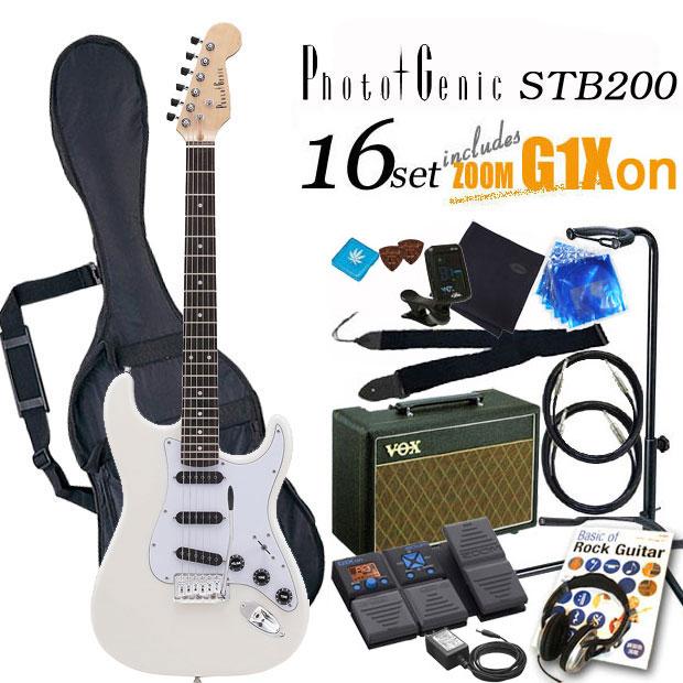 エレキギター初心者 フォトジェニック Photogenic STB-200 WH 入門セット16点【エレキギター初心者】【送料無料】