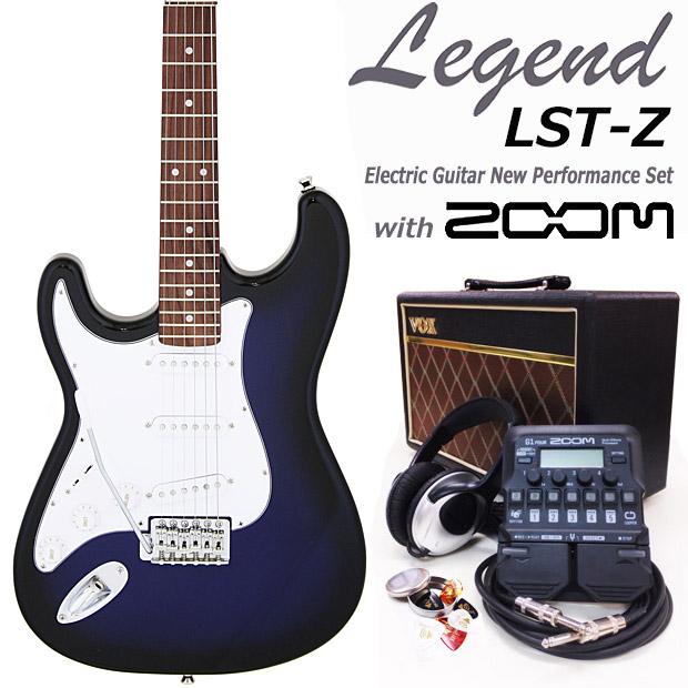 エレキギター初心者入門 Legend レジェンド LST-Z-LH/BBS 左利き レフトハンド 16点セット【エレキ ギター初心者】【送料無料】
