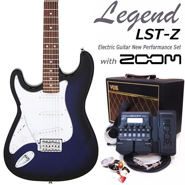 エレキギター初心者入門 Legend レジェンド LST-Z-LH/BBS 18点セット 左利き レフトハンド【エレキ ギター初心者】