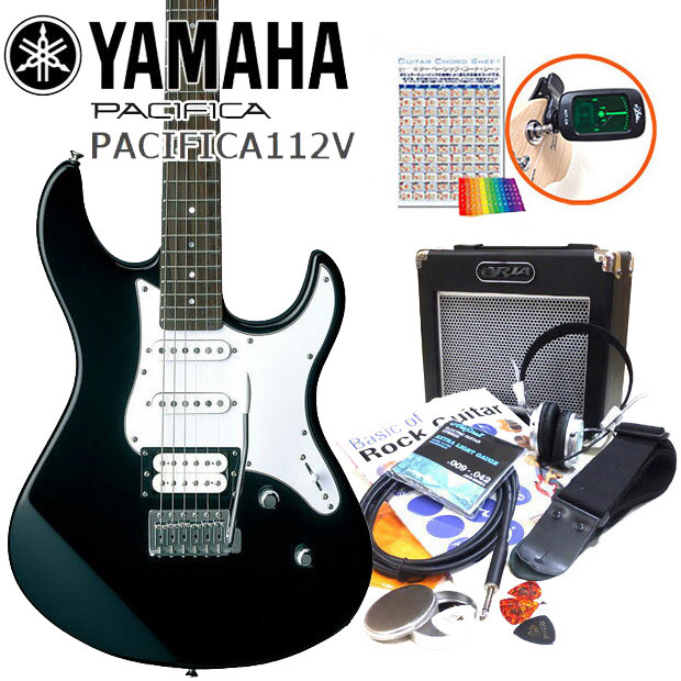 エレキギター 初心者セット 入門セット YAMAHA ヤマハ PACIFICA112V/BL 15点セット【エレキ ギター初心者】【エレクトリックギター】【送料無料】