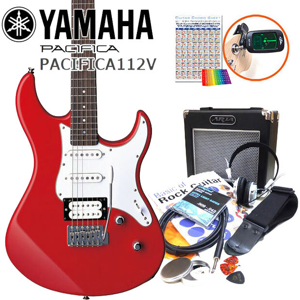 エレキギター 初心者セット 入門セット YAMAHA ヤマハ PACIFICA112V/RBR 15点セット【エレキ ギター初心者】【エレクトリックギター】【送料無料】