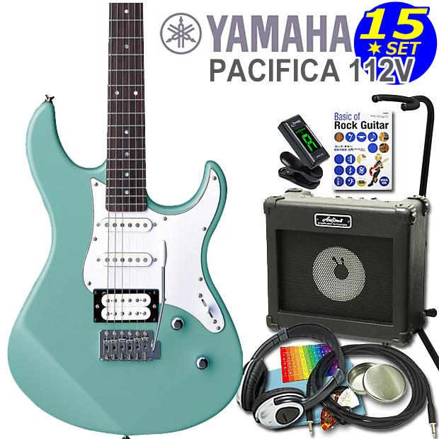 エレキギター 初心者セット 入門セット YAMAHA ヤマハ PACIFICA112V/SOB 15点セット【エレキ ギター初心者】【エレクトリックギター】