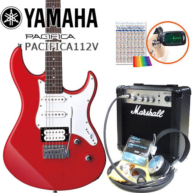 エレキギター 初心者セット YAMAHA ヤマハ パシフィカ PACIFICA 112V/RBR マーシャルアンプ付15点セット
