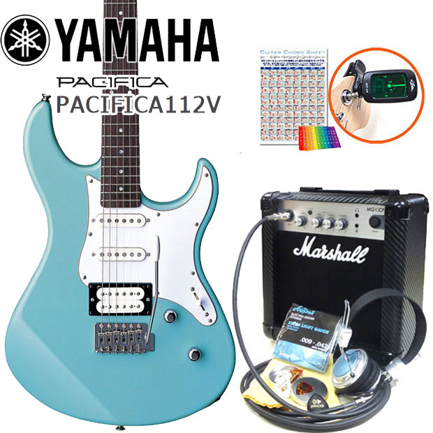 エレキギター 初心者セット YAMAHA ヤマハ パシフィカ PACIFICA/SOB マーシャルアンプ付15点セット