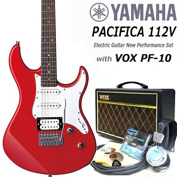 エレキギター 初心者セット 入門セット YAMAHA ヤマハ PACIFICA112V/RBR 15点セット VOXアンプ付き【エレキ ギター初心者】【エレクトリックギター】