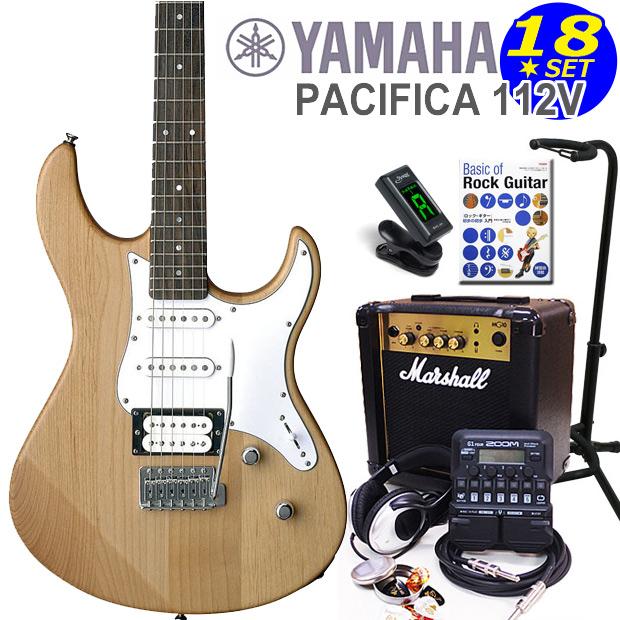 YAMAHA ヤマハ PACIFICA 112V/YNS エレキギター マーシャルアンプ付 初心者セット18点 ZOOM G1Four付き【エレキギター初心者】