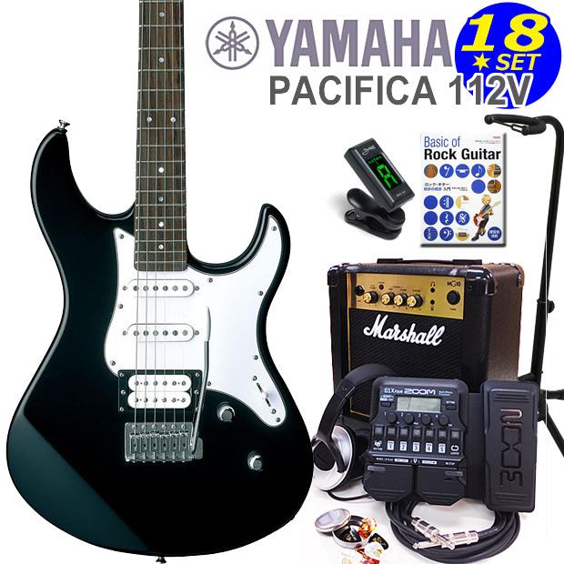 YAMAHA ヤマハ PACIFICA 112V/BL エレキギター マーシャルアンプ付 初心者セット18点 ZOOM G1XFour付き【エレキギター初心者】
