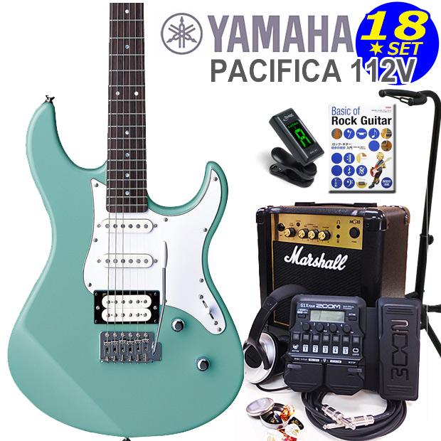 YAMAHA ヤマハ PACIFICA 112V/SOB エレキギター マーシャルアンプ付 初心者セット16点 ZOOM G1Xon付き【エレキギター初心者】【送料無料】