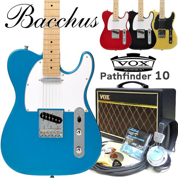 エレキギター 初心者セット Bacchus バッカス ギター BTE-1M VOXアンプ付15点セット 【エレキ ギター初心者】【エレクトリックギター】【送料無料】