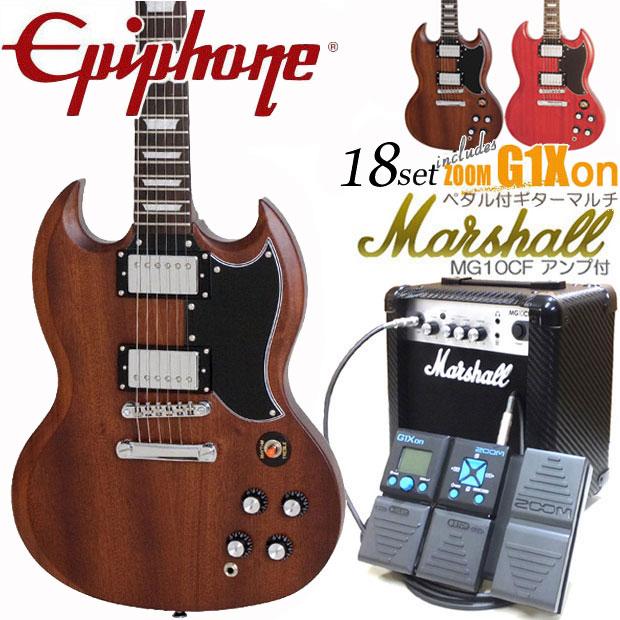 エピフォン SG Epiphone Worn G-400 SG エレキギター 初心者 入門18点セット ZOOM G1Xon付き【エレキギター初心者】【送料無料】