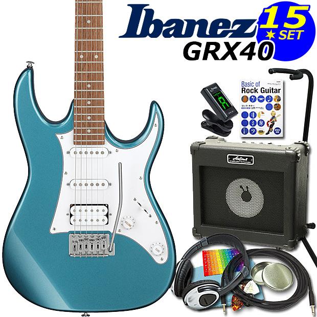 エレキギター初心者 Gio Ibanez アイバニーズGRX40/MLB 入門セット15点【エレキギター初心者】【送料無料】