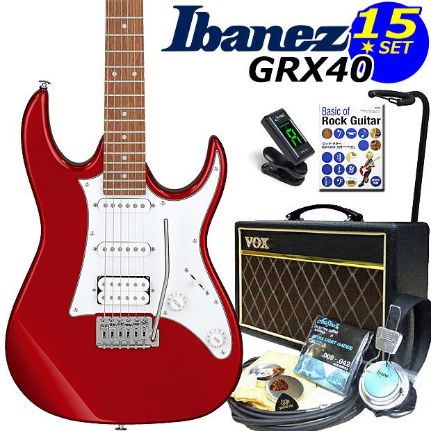 Ibanez アイバニーズ GRX40 CA VOXアンプ付き入門15点セット【エレキギター初心者】