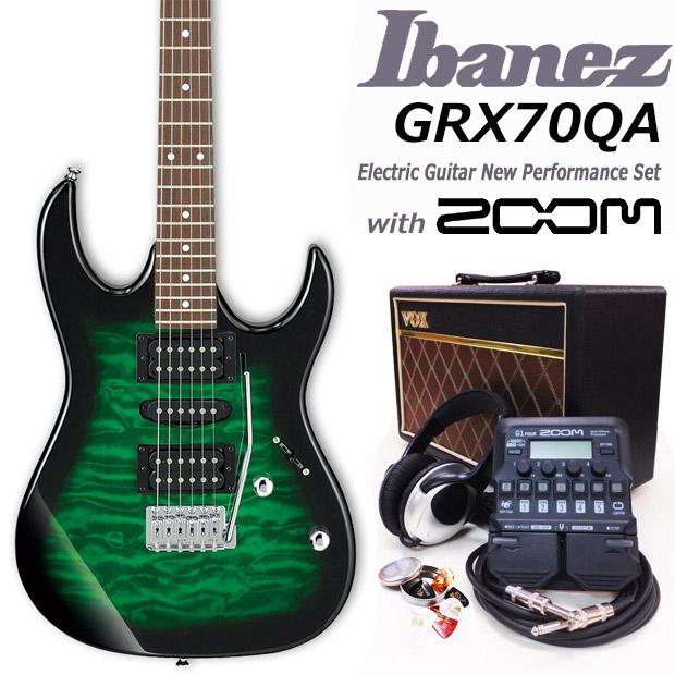 エレキギター初心者 アイバニーズ Ibanez GRX70QA TEB 入門セット16点【エレキギター初心者】【送料無料】