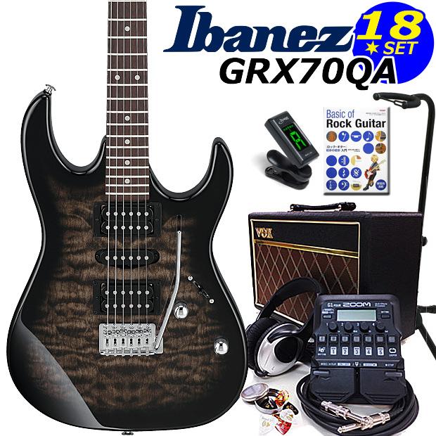エレキギター初心者 アイバニーズ Ibanez GRX70QA TKS 入門セット16点【エレキギター初心者】【送料無料】